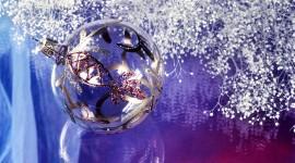 Silver Christmas Balls Photo Download