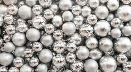 Silver Christmas Balls Wallpaper Background