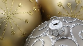 Silver Christmas Balls Wallpaper Download