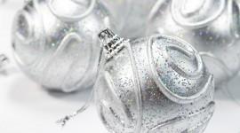 Silver Christmas Balls Wallpaper Gallery