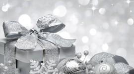 Silver Christmas Balls Wallpaper HQ