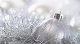 Silver Christmas Balls Wallpaper HQ#1