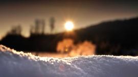 Snow Macro Wallpaper Full HD