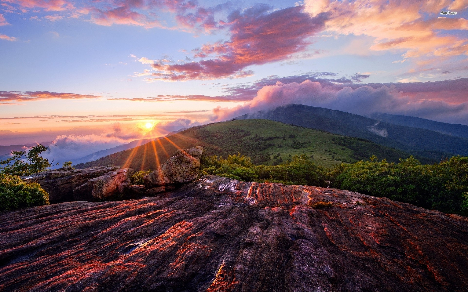 Sunset In The Mountains Wallpapers High Quality   Download ...