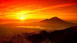 Sunset In The Mountains Wallpaper 1080p