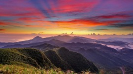 Sunset In The Mountains Wallpaper 1080p#1