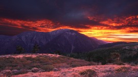 Sunset In The Mountains Wallpaper Gallery
