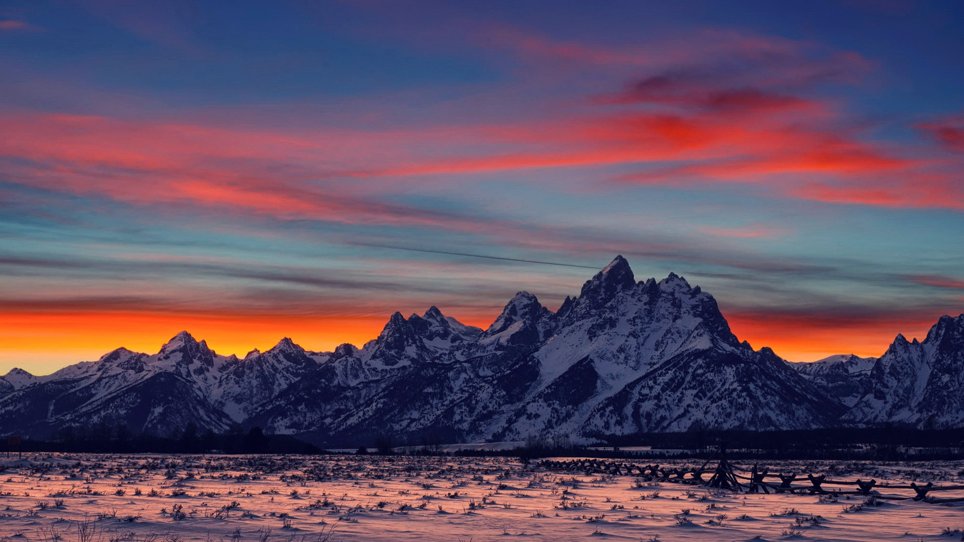 Sunset In The Mountains Wallpapers High Quality Download Free