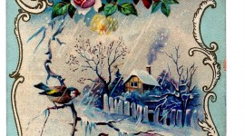 Winter Postcards Wallpaper For Android