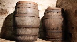Wooden Barrel High Quality Wallpaper