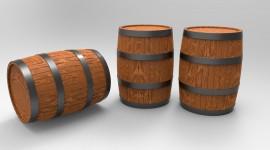 Wooden Barrel Wallpaper HD