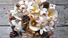 Wooden Flowers Photo