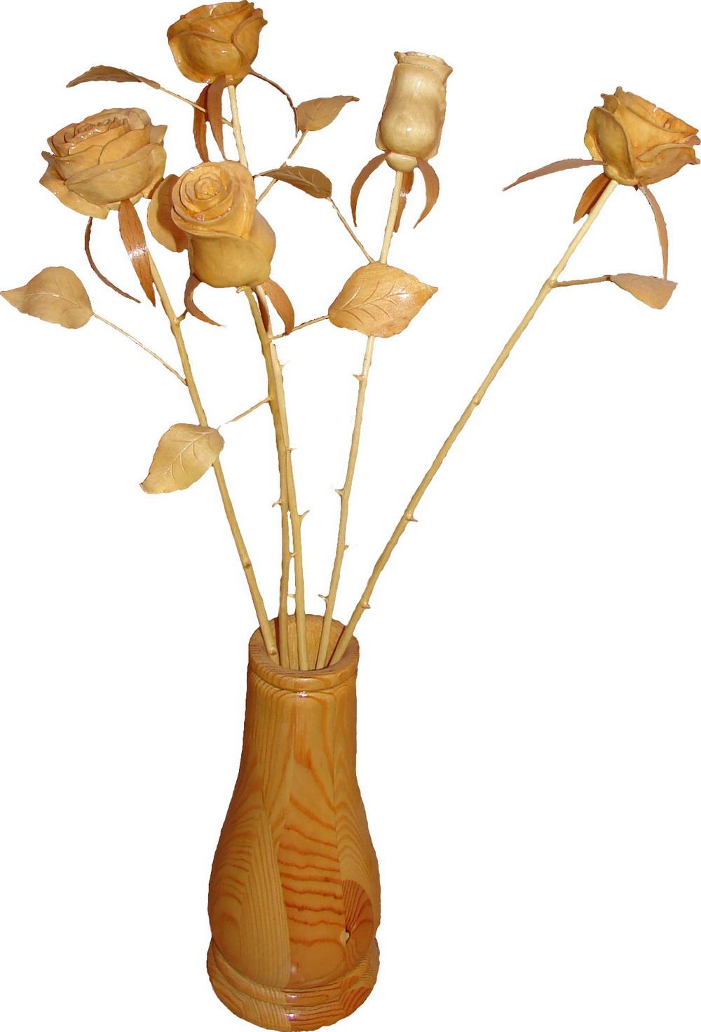 Розочка из дерева своими руками 12