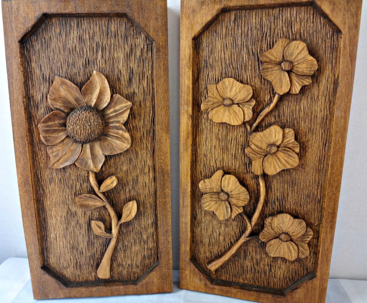 Wood Carving Designs Flowers