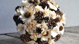 Wooden Flowers Wallpaper HQ