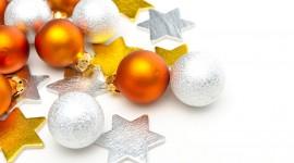 Yellow Christmas Balls Photo