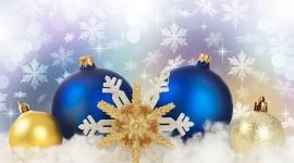 Yellow Christmas Balls Wallpaper Free