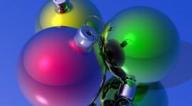 Yellow Christmas Balls Wallpaper Gallery