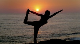 Yoga At Sunset Best Wallpaper