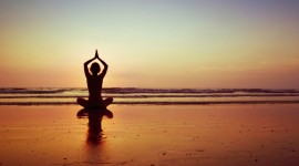 Yoga At Sunset High Quality Wallpaper