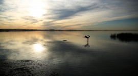 Yoga At Sunset Wallpaper