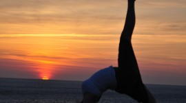Yoga At Sunset Wallpaper For Android