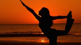 Yoga At Sunset Wallpaper Full HD