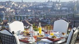 Breakfast On The Terrace Wallpaper