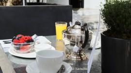 Breakfast On The Terrace Wallpaper Download Free