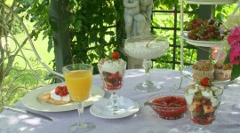 Breakfast On The Terrace Wallpaper For IPhone Free