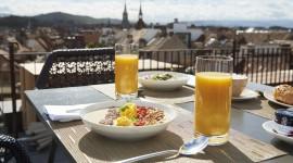 Breakfast On The Terrace Wallpaper Free