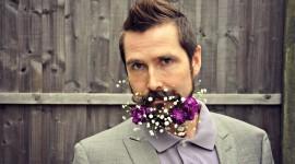 Flowers In The Beard Wallpaper
