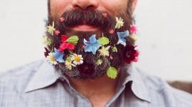 Flowers In The Beard Wallpaper Download