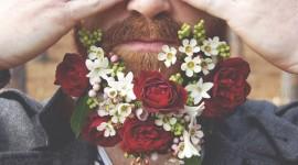 Flowers In The Beard Wallpaper Download Free