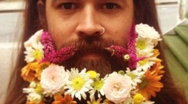 Flowers In The Beard Wallpaper For IPhone 6