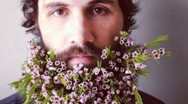 Flowers In The Beard Wallpaper For IPhone 6 Download