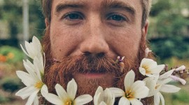 Flowers In The Beard Wallpaper For IPhone 7