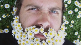 Flowers In The Beard Wallpaper For IPhone Download