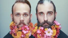 Flowers In The Beard Wallpaper For PC
