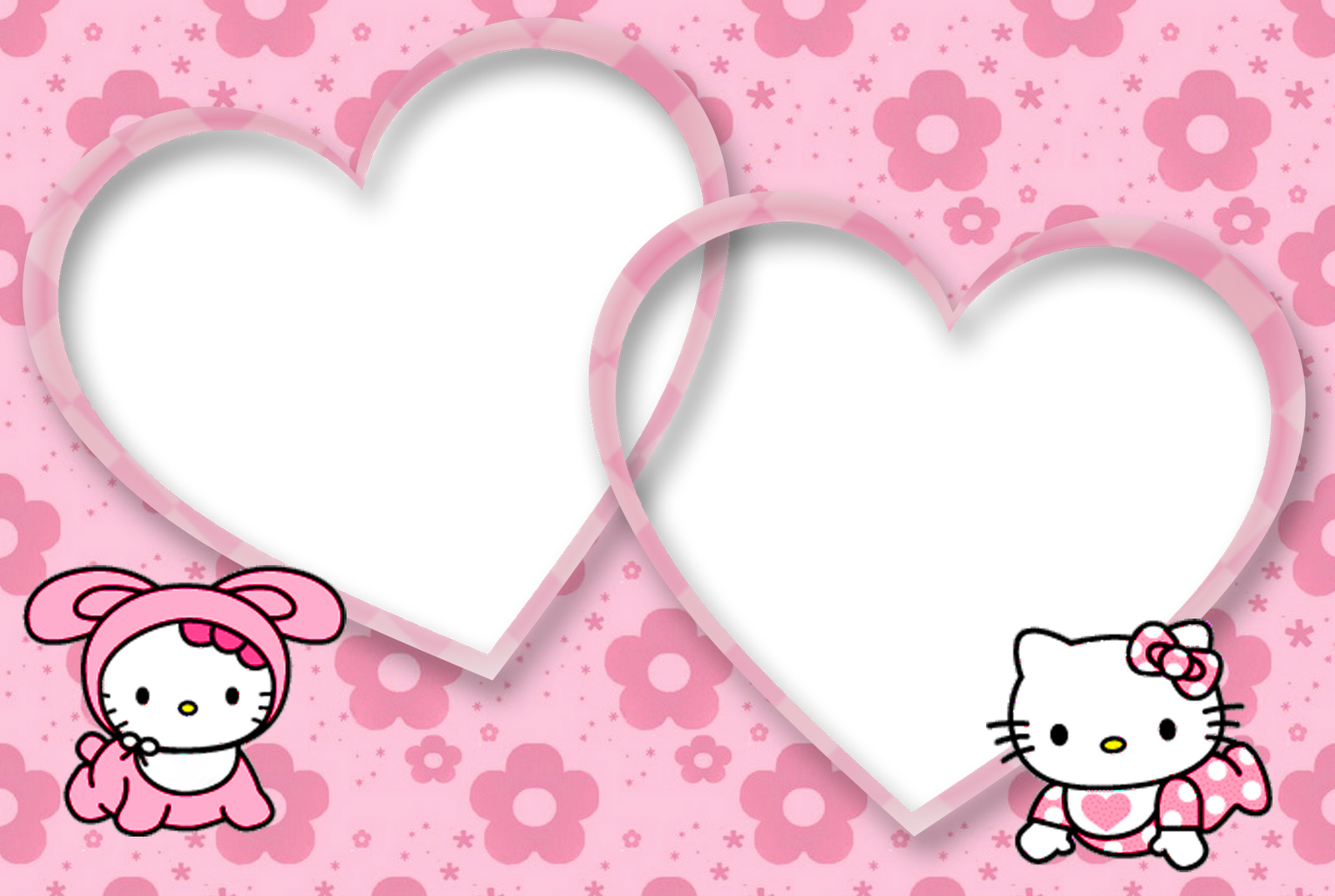 Hello Kitty Photo Frame Wallpapers High Quality Download
