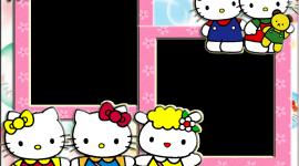 Hello Kitty Photo Frame Wallpaper Full HD