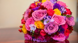 Multi Colored Bouquets Desktop Wallpaper HD