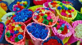 Multi Colored Bouquets Photo