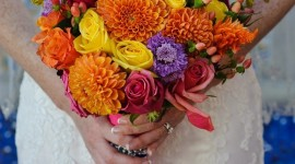 Multi Colored Bouquets Wallpaper For Android