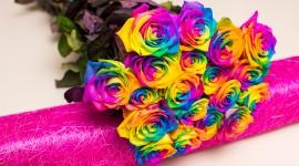 Multi Colored Bouquets Wallpaper Full HD