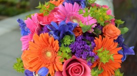 Multi Colored Bouquets Wallpaper Gallery