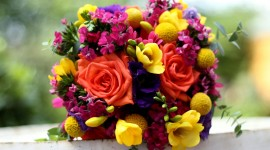 Multi Colored Bouquets Wallpaper HQ