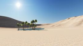 Oasis In The Desert Desktop Wallpaper HQ
