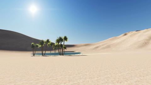 Oasis In The Desert wallpapers high quality