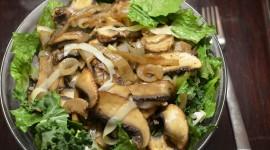 Salad With Mushrooms Desktop Wallpaper